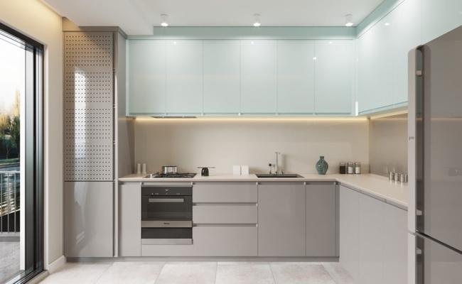 L дизайн кухни