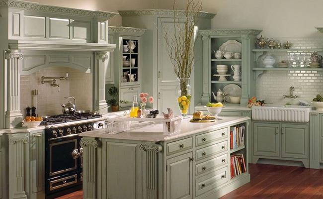 кухня в коттеджном стиле