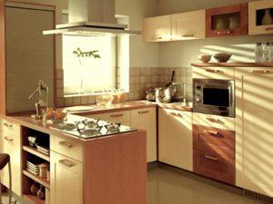 кухня-полуостров